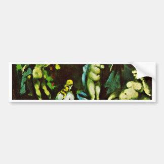 Temptation Of St. Anthony By Paul Cézanne Car Bumper Sticker