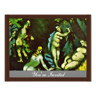 Temptation Of St. Anthony By Paul Cézanne 4.25x5.5 Paper Invitation Card