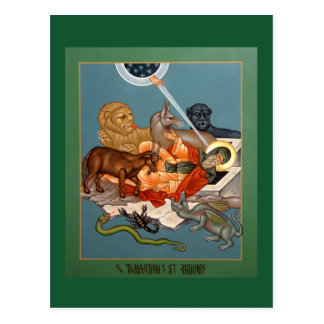 Temptation of St. Anthony Prayer Card Postcard