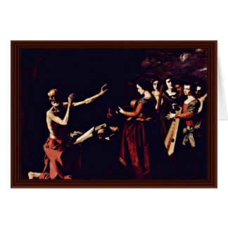 Temptation Of St. Jerome By Zurbarán Francisco De Greeting Card