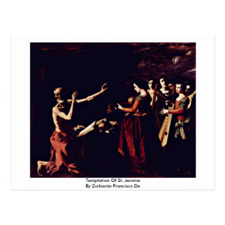 Temptation Of St. Jerome By Zurbarán Francisco De Postcard