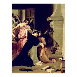 Temptation of St.Thomas Aquinas Postcard