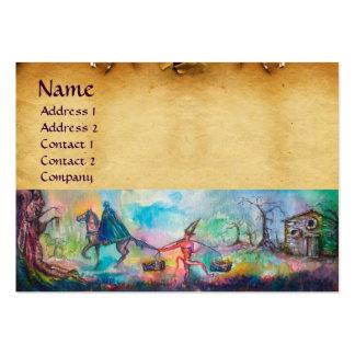 TEMPTATION parchment Large Business Card