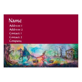 TEMPTATION red white blue orange brown pink grey Business Cards