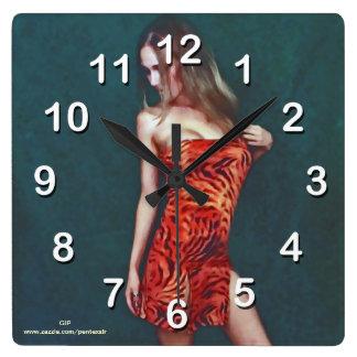 Temptation Tigress-Wall Clock