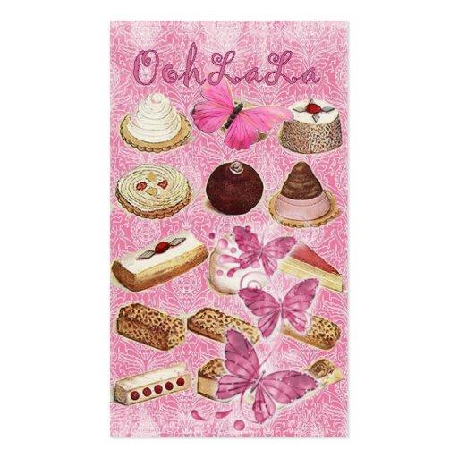 temptation Vintage Chocolate Bakery Business cards