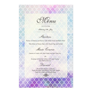 Temptation Wedding Menu Personalized Announcement