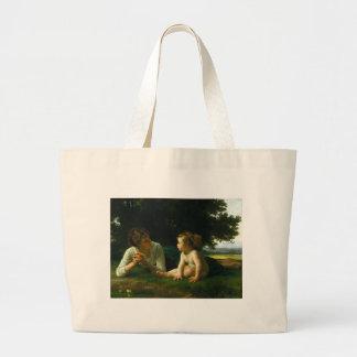 Temptation, William-Adolphe Bouguereau Canvas Bags