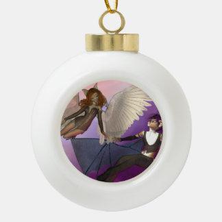 Tempted Ceramic Ball Christmas Ornament