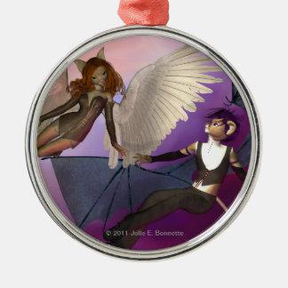 Tempted Premium Round Ornament