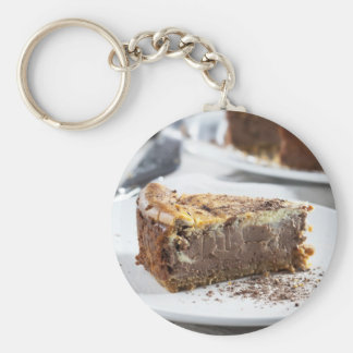 Tempting Chocolate Cheesecake Keychain