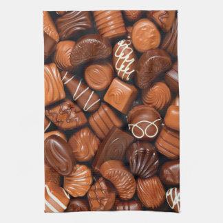 Tempting Milk Chocolate Candies Kitchen Towel