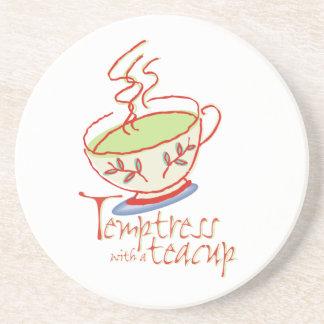 Temptress with a teacup Coaster
