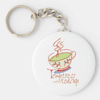 Temptress with a Teacup Keychain