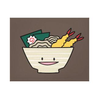 Tempura ramen bowl nori shrimp Japanese noodles Canvas Print