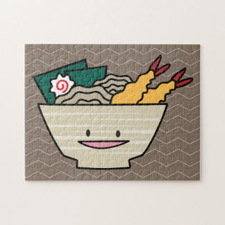 Tempura ramen bowl nori shrimp Japanese noodles Jigsaw Puzzle