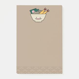 Tempura ramen bowl nori shrimp Japanese noodles Post-it Notes