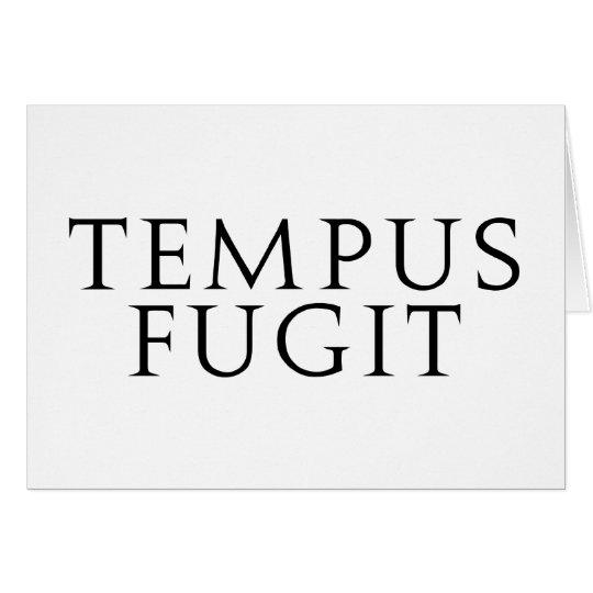 Tempus Fugit Card