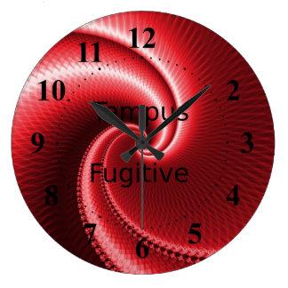 Tempus Fugitive Big Red Wave Clock