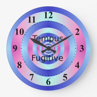 Tempus Fugitive Blue and Pink Rings Clock