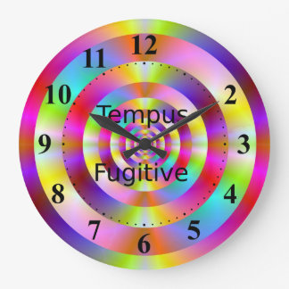 Tempus Fugitive Colored Rings Clock
