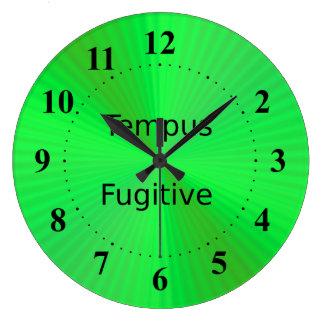 Tempus Fugitive in Green Clock