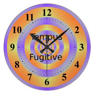 Tempus Fugitive Orange and Violet Target Clock