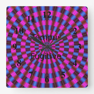 Tempus Fugitive Pink and Blue Rings Clock