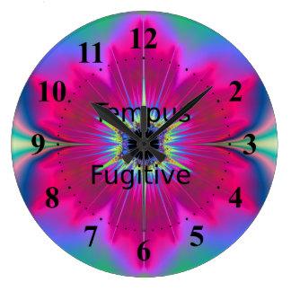 Tempus Fugitive Pink Flower Clock