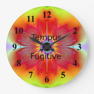 Tempus Fugitive Red Flower Clock