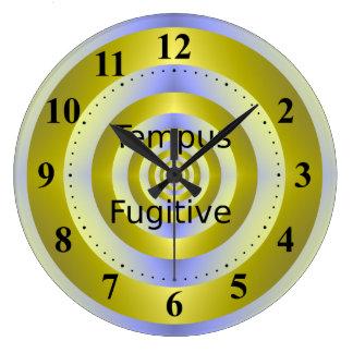 Tempus Fugitive Yellow and Blue Target Clock