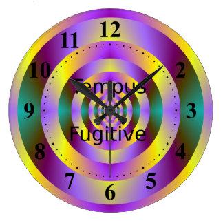 Tempus Fugitive Yellow and Purple Target Clock