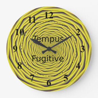 Tempus Fugitive Yellow Spiral Clock