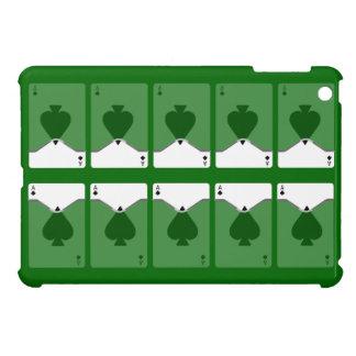 Ten Ace Of Spades On Green iPad Mini Case