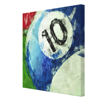 Ten Ball Billiards Abstract Canvas Print