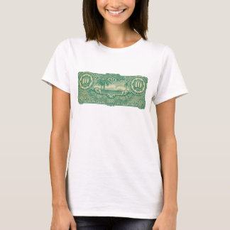 Ten Bucks Play Money Bill Back T-Shirt