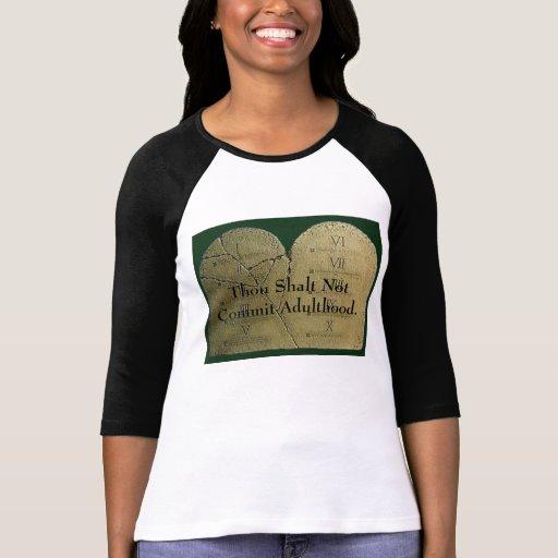 ten_commandments_1, mil Shalt no confiar a adulto… Camisetas