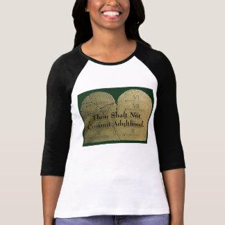 ten_commandments_1, Thou Shalt Not Commit Adult... T-Shirt