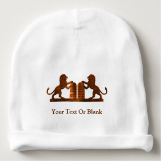 Ten Commandments and Lions Baby Beanie