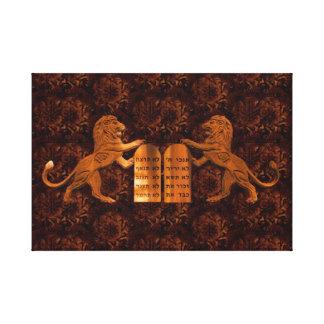 Ten Commandments and Lions Canvas Print