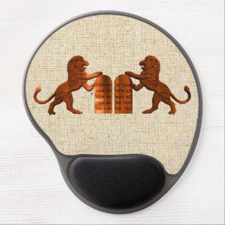 Ten Commandments and Lions Gel Mouse Pad