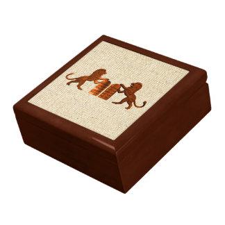 Ten Commandments and Lions Jewelry Box