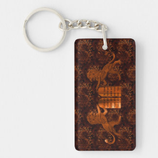 Ten Commandments and Lions Rectangle Acrylic Key Chains