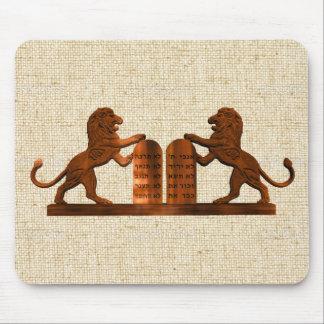 Ten Commandments and Lions Mouse Pad