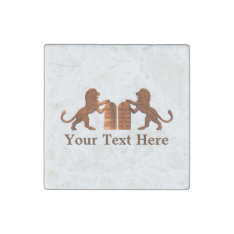 Ten Commandments And Lions Stone Magnet at Zazzle