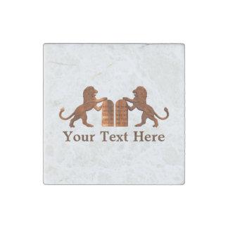 Ten Commandments and Lions Stone Magnet