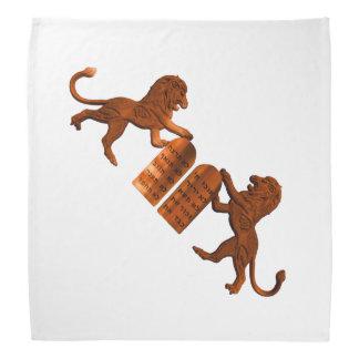 Ten Commandments and Lions Kerchief