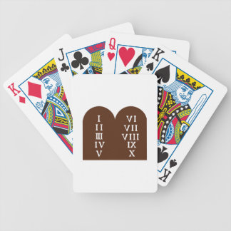 Ten Commandments Bicycle Playing Cards