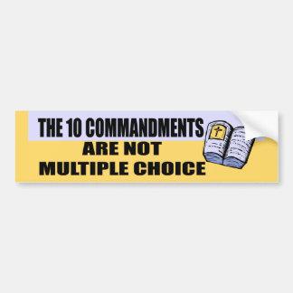 Ten Commandments Bumper Sticker Car Bumper Sticker