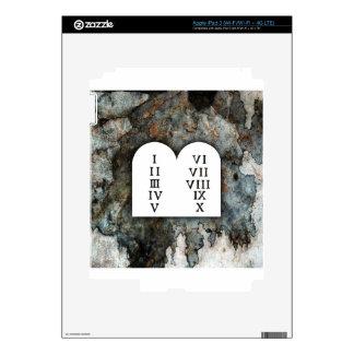 Ten Commandments Decal For iPad 3